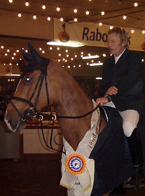 Michel van der Knaap tijdens de laatste prijsuitreiking in de Markthallen.