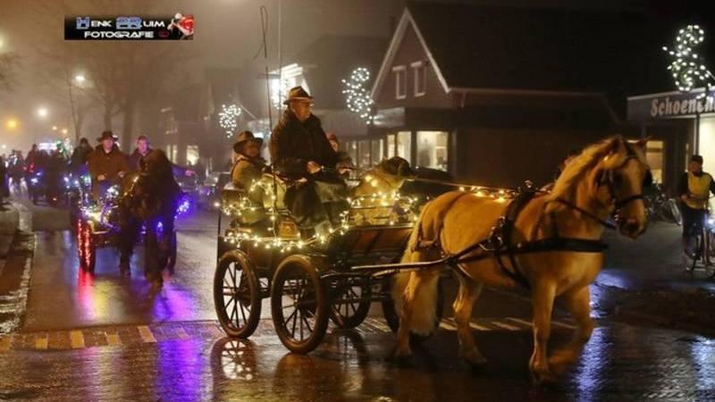 Ruiters en menners welkom bij lichtjesparade Onstwedde