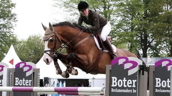 Marianne Boerema won met Wakey Wakey op het CH Eext. ©Roos Meertens