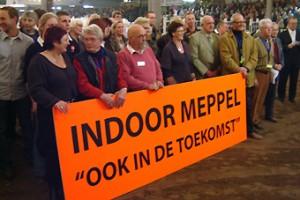 Tijdens de laatste editie werd er actie gevoerd voor het behoud van Indoor Meppel.
