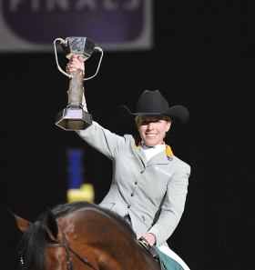 Meredith Michaels-Beerbaum is de afgetekende winnares.©FEI/Kit Houghton