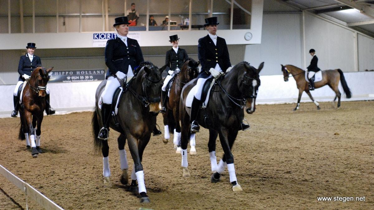 Drentse dressuurkampioenen in het Hippisch Centrum Emmen.