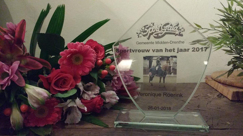 Dressuuramazone Veronique Roerink sportvrouw van het jaar in Midden-Drenthe