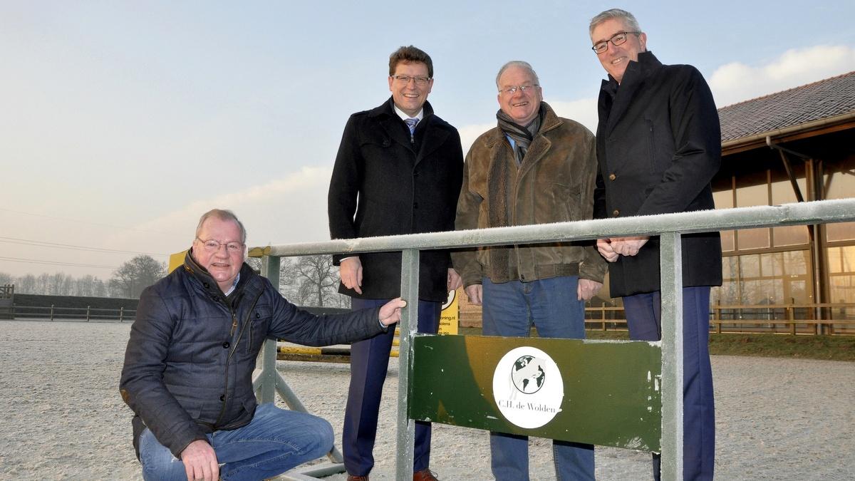 Van links naar rechts Jan Broek, Roger de Groot, Peter Pluijter en Henk Jumelet. foto: Fred Lubbers