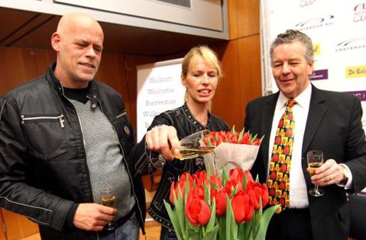 Anky van Grunsven doopt de tulp Salinero.