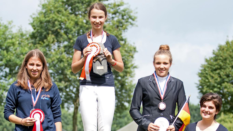 Lieke van Horne pakt goud bij jeugdontmoeting IJslanders Exloo