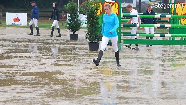 Regen tijdens CH De Wolden
