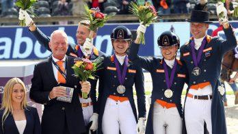 Zilver voor Nederlands dressuurteam op EK Rotterdam